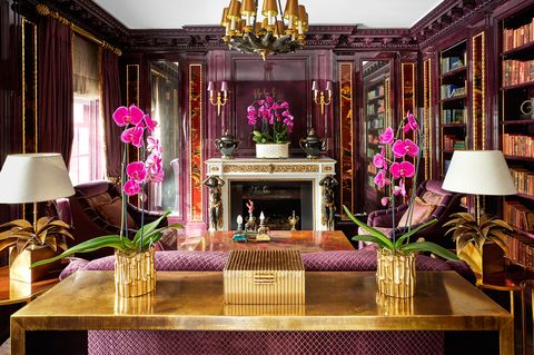 Decoration, Room, Interior design, Property, Purple, Pink, Furniture, Lighting, Building, Lobby,