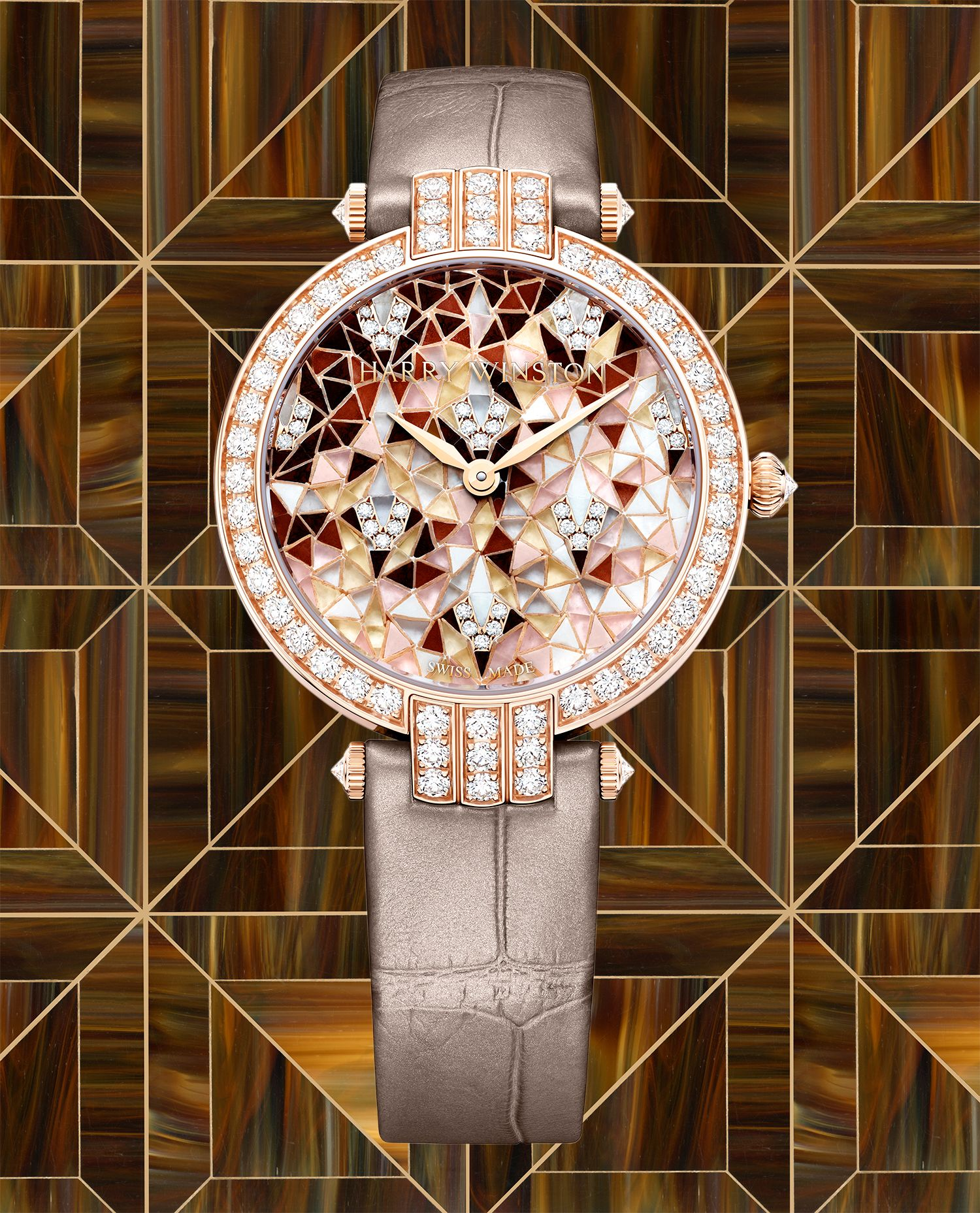 The Fine Art of Mosaics is on Elegant Display in New Watches from Harry Winston