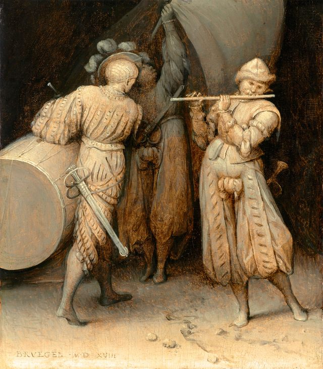 the three soldiers by bruegel