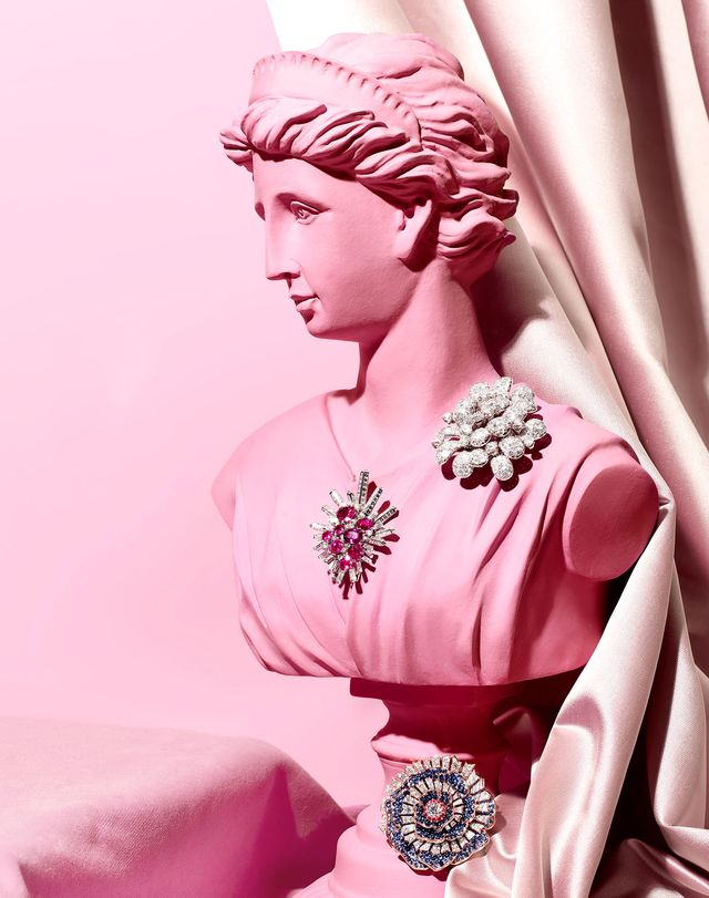 jeweled brooches