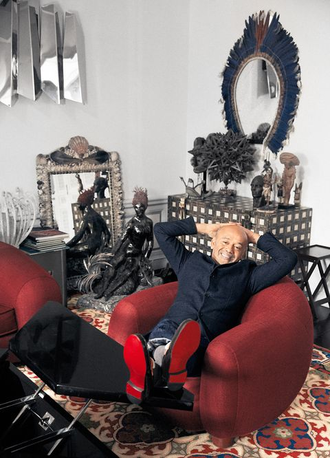 christian louboutin in his paris apartment