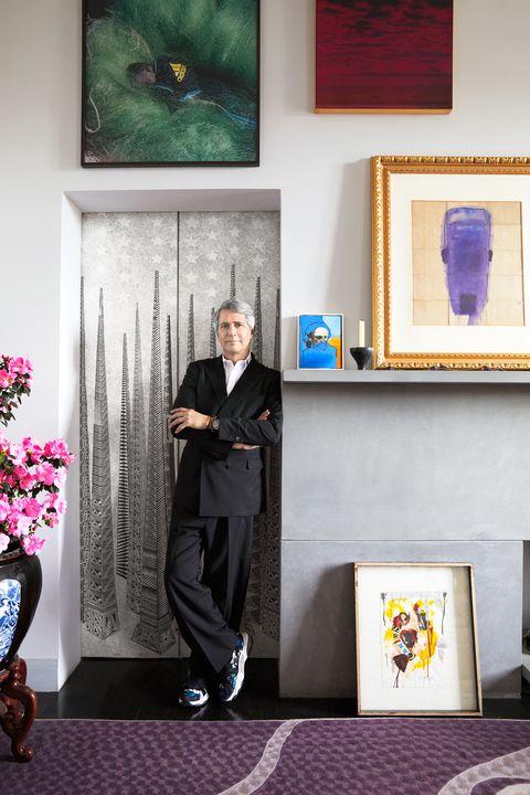 designer standing in small doorway