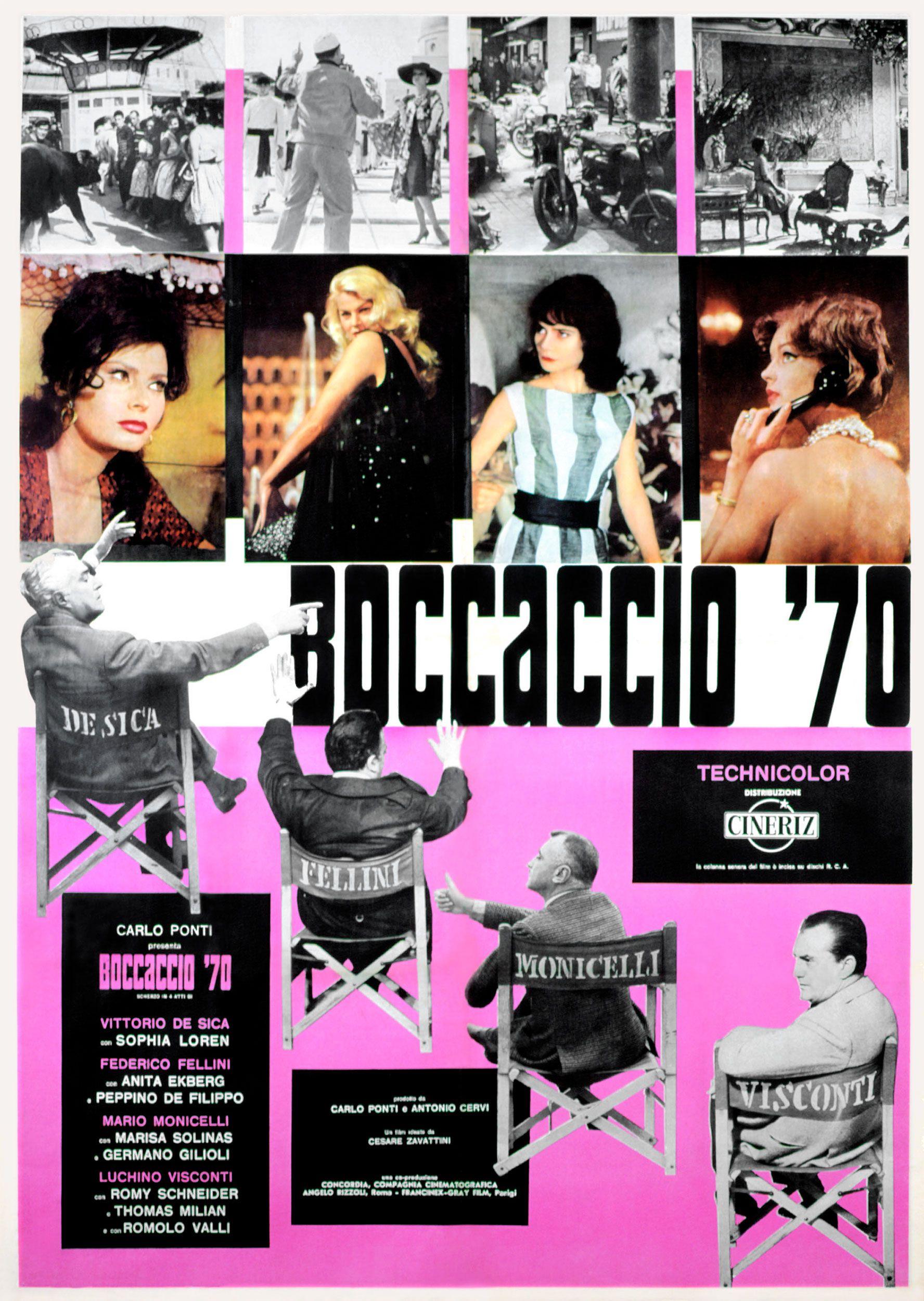 La locandina del film Boccaccio 70