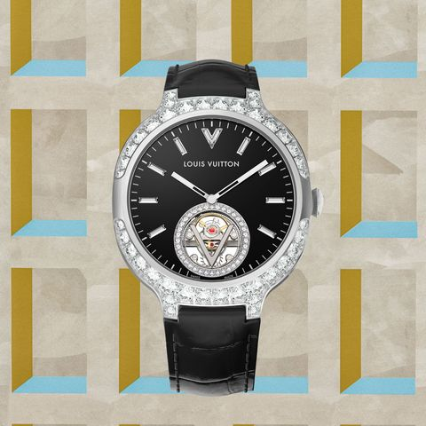 Louis Vuitton Voyager Automatic Flying Tourbillon watch in Onyx