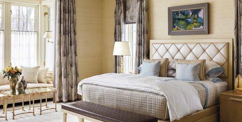 Bedroom, Furniture, Bed, Room, Bed frame, Interior design, Bed sheet, Nightstand, Bedding, Property,