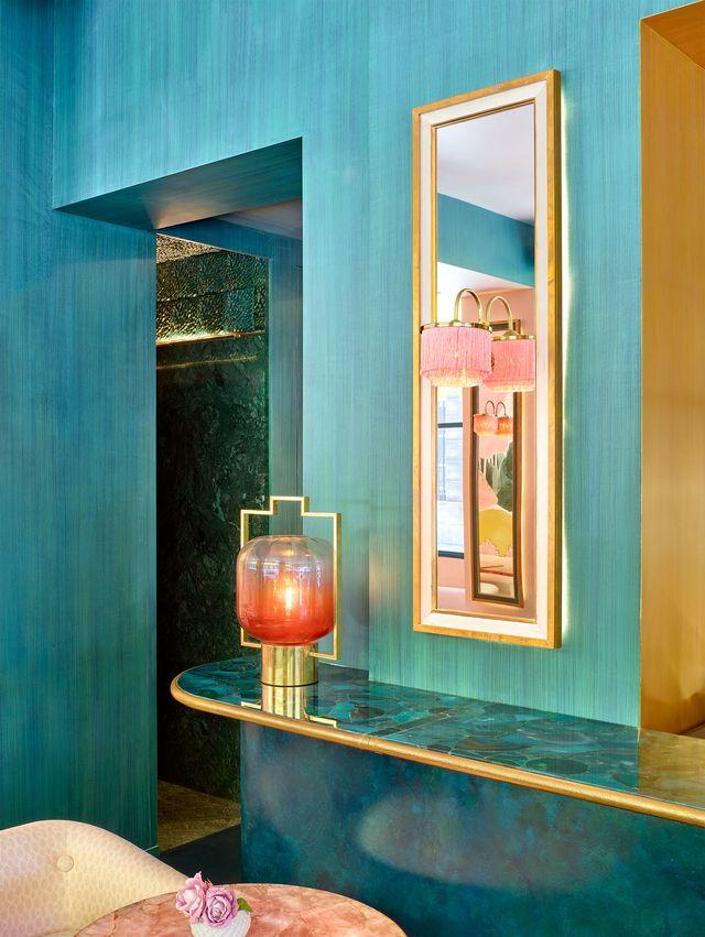 interno color turchese