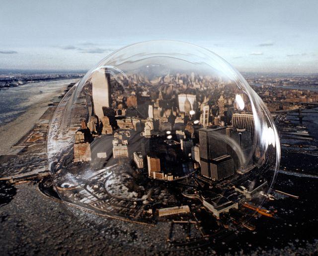 city under bubble