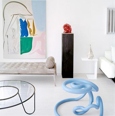 Furniture, Table, Room, Turquoise, Interior design, Design, Coffee table, Floor, Living room,
