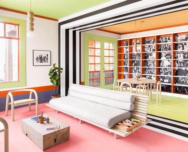 colorful space in villa san francisco