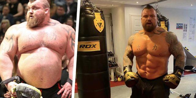 eddie hall weightloss