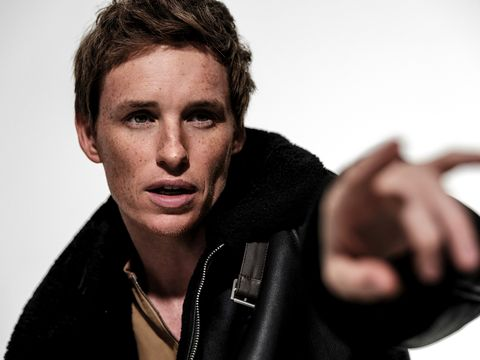 the actor eddie redmayne poses for the magazine esquire spain with a hermés jacket