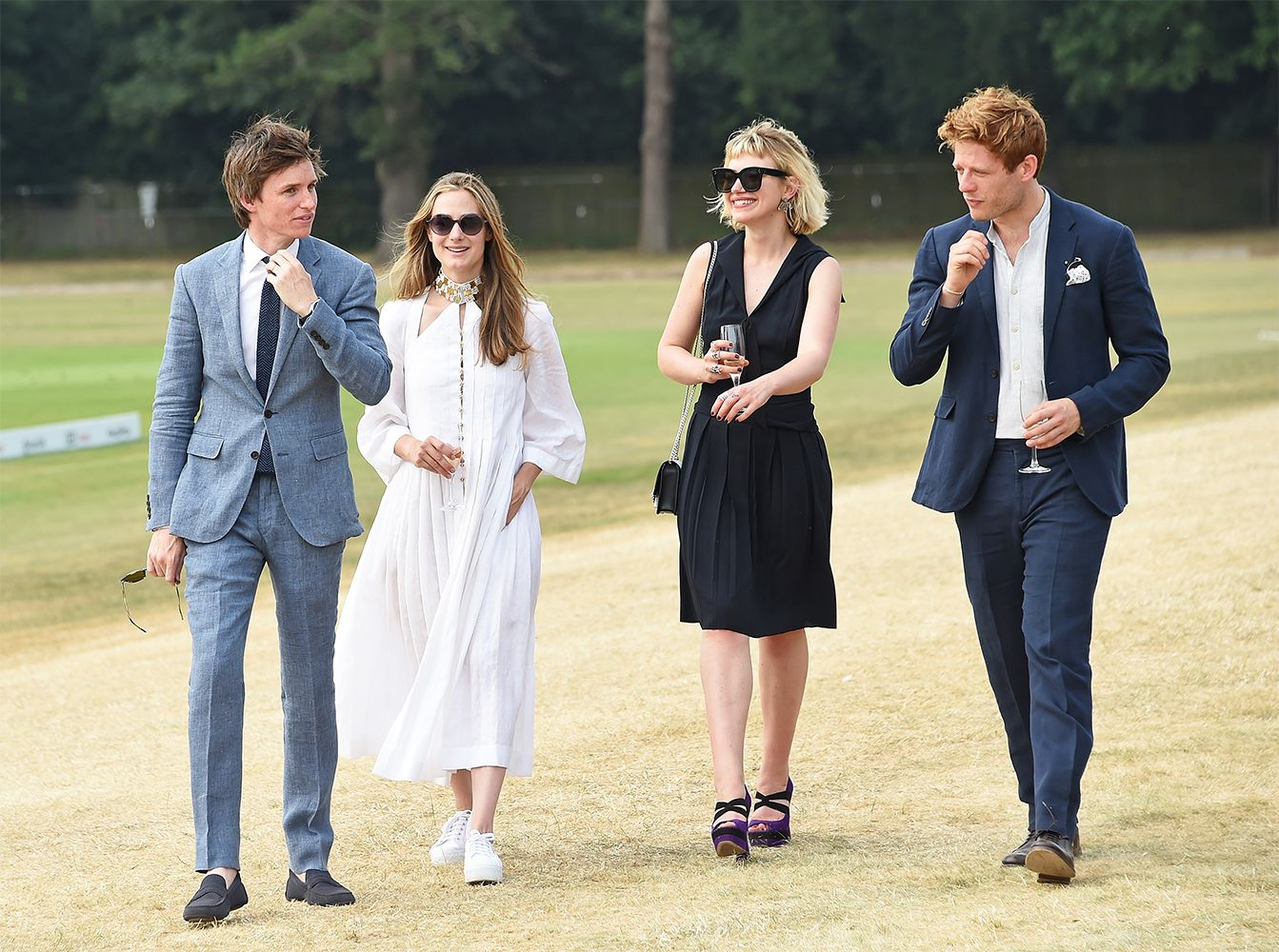 Eddie and Hannah Redmayne, James Norton and Imogen Poots at the Audi Polo Challenge 2018