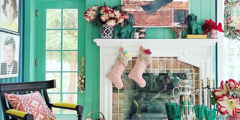 Living room, Green, Room, Turquoise, Interior design, Furniture, Blue, Pink, Home, Aqua,