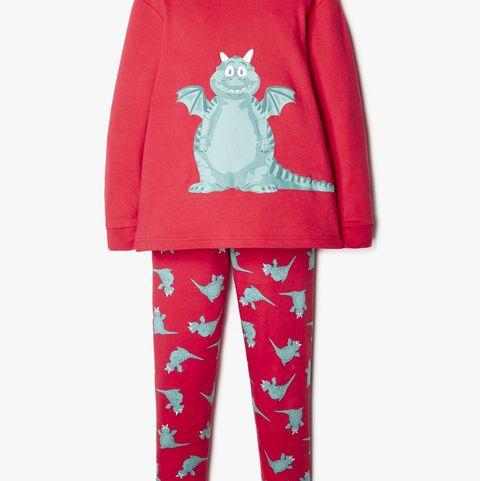 Excitable Edgar Children's 3D Glow In The Dark Pyjamas, Red