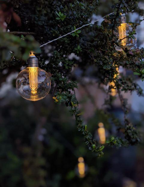 edison style outdoor solar string lights
