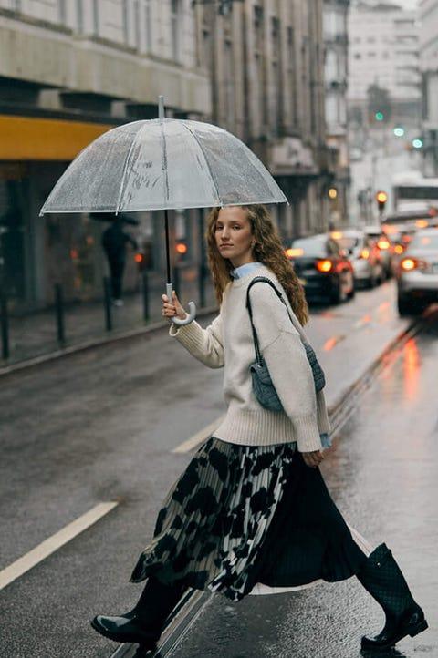 Photograph, Street fashion, Snapshot, Pedestrian, Fashion, Rain, Umbrella, Street, Human, Photography,