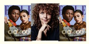 ELLE's januari/februari-cover en een portret van hoofdredacteur Edine Russel