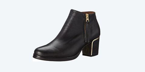Footwear, Boot, Shoe, Brown, High heels, Zipper, Leather,