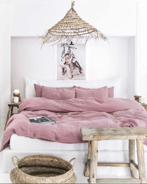 Dormitorio rústico y fresco