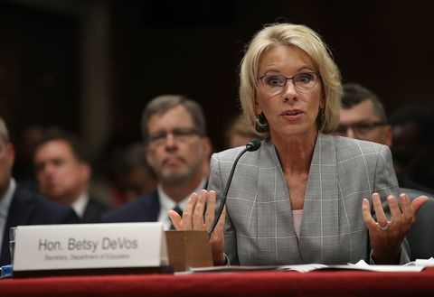 1d7a3a53779 Education Secretary Betsy DeVos Testifies To Senate Hearing On Budget Of  Department
