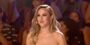 Edurne entrega su pase de oro en 'Got Talent'