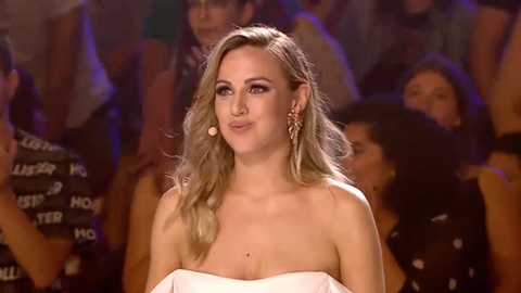 Edurne entrega su pase de oro en 'Got Talent'