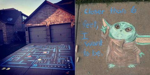 子どもたちも笑顔に!駐車場に描く「チョークアート」が話題