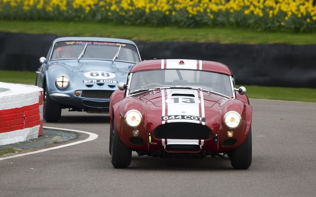 chichester, england   march 18 1963 ac cobra le mans coupe in the graham hill trophy race during the 75th member's meeting at goodwood on march 18, 2017 in chichester, england photo by michael colecorbis via getty images