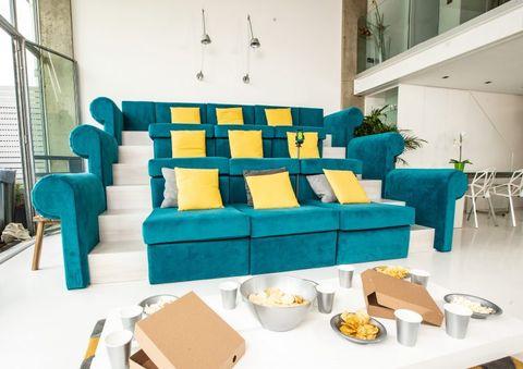 Fabulous Ee Design Three Tiered Stadium Style Sofa For Living Room Interior Design Ideas Gentotryabchikinfo