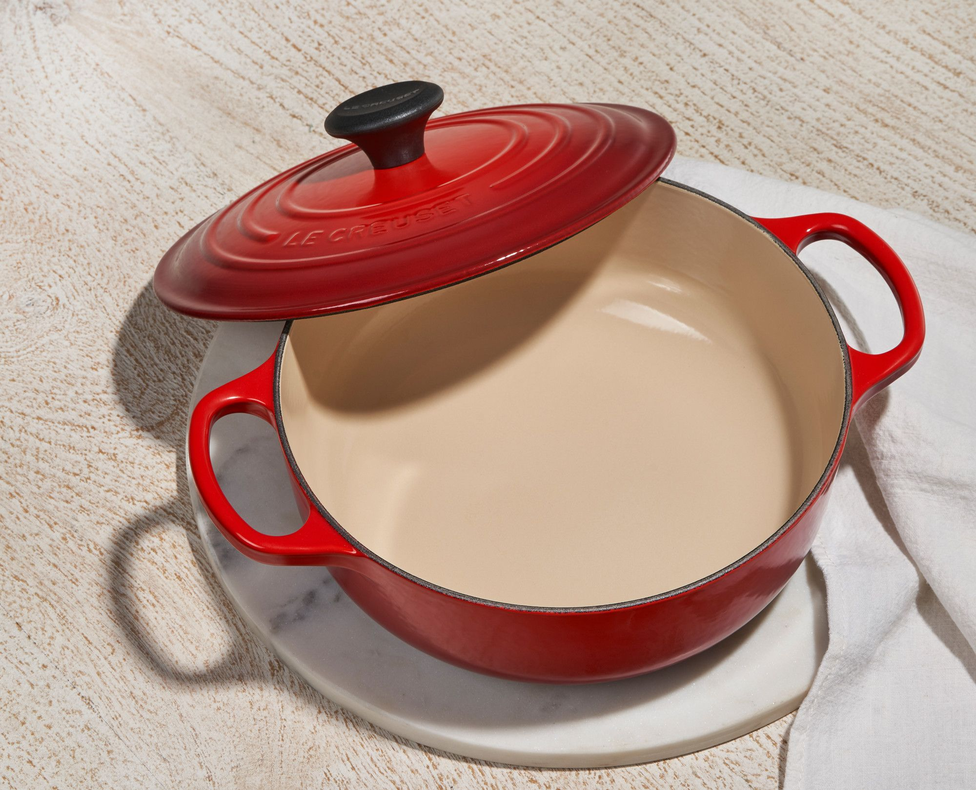 You Can Get A Le Creuset Cast Iron Sauteuse For 40 Percent Off On Wayfair