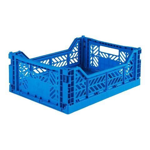 eef lillemor folding crate midi  blue