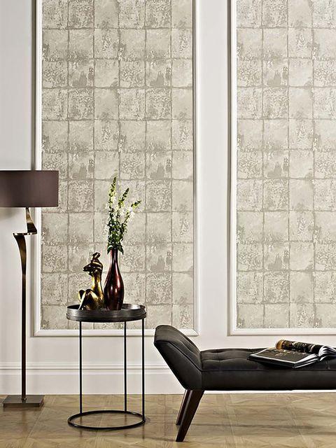 decorar las paredes   papel efecto piedra