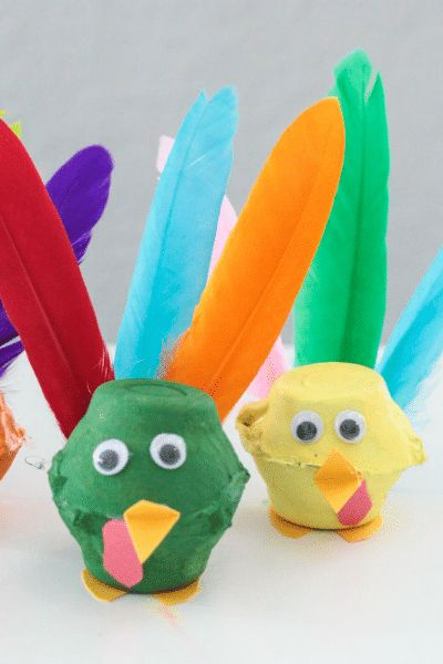 egg craft thanksgiving turkey craft for kids