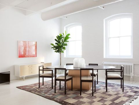 Room, Furniture, Interior design, Table, Property, Floor, Building, Ceiling, Dining room, House,
