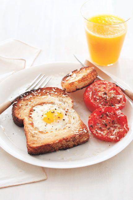 kid-friendly breakfast recipes -Egg in a Hole