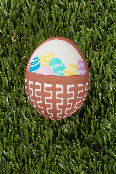 egg painting easter basket