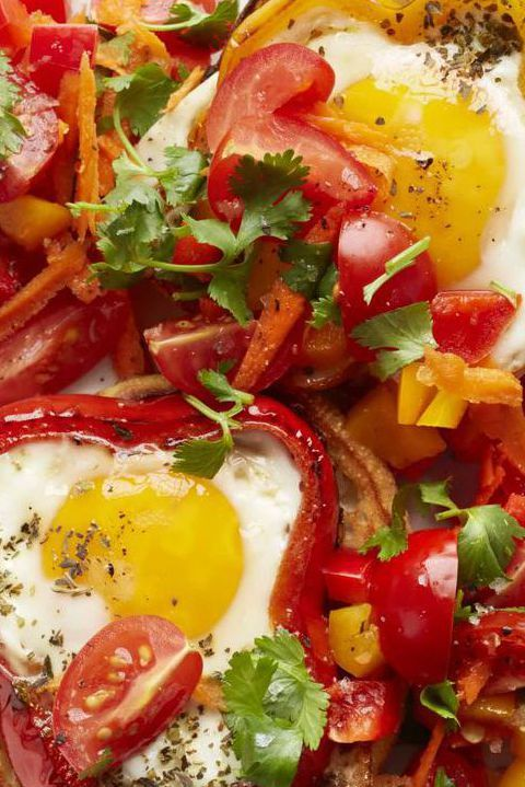 Egg Pepper Rings with Carrot Salsa - Easter brunch menu