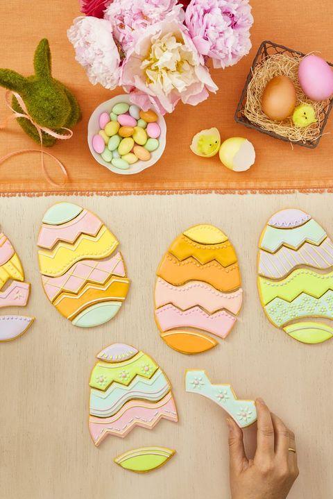 Egg Puzzle Cookies - Easter Cookies