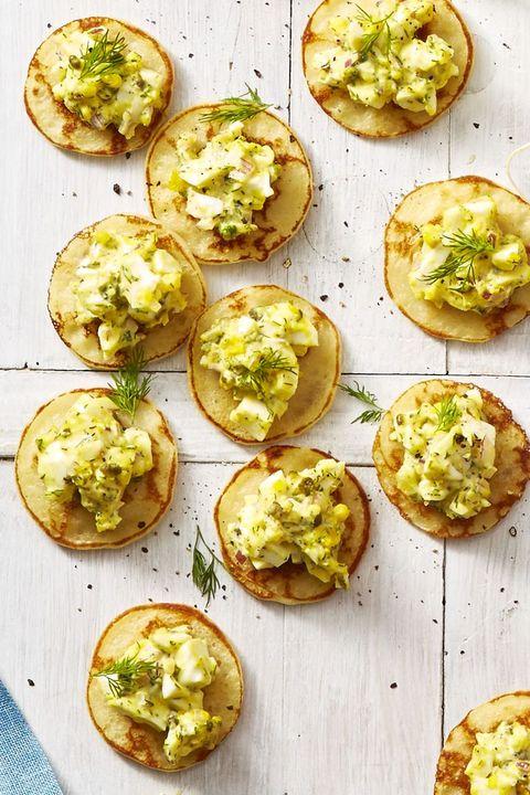 Egg Salad Blini Bites - Easter Appetizers