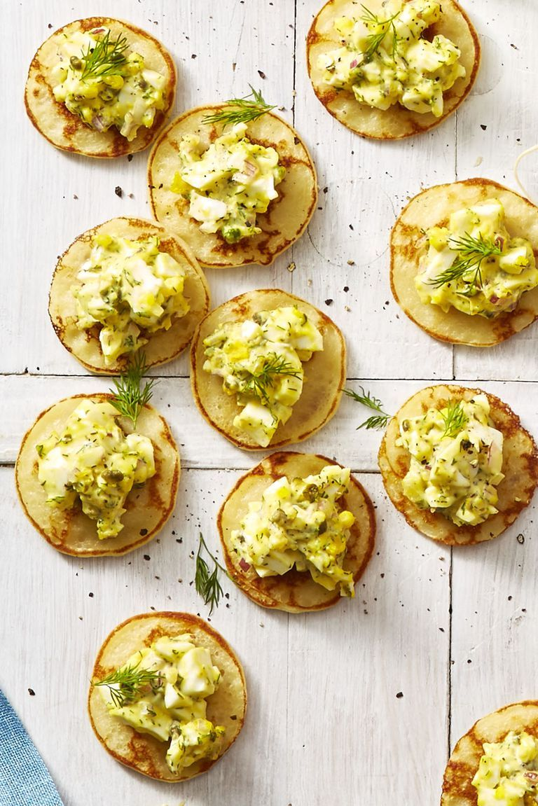 Egg Salad Blini Bites - Easter Dinner Menus
