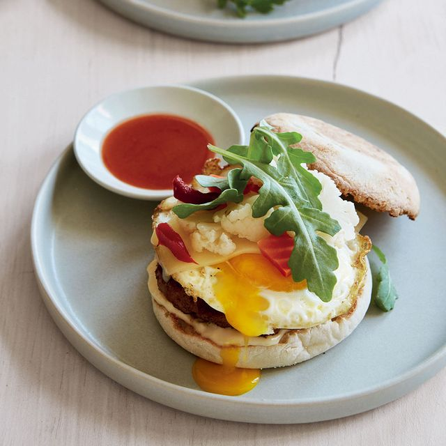 egg and sausage sandwiches