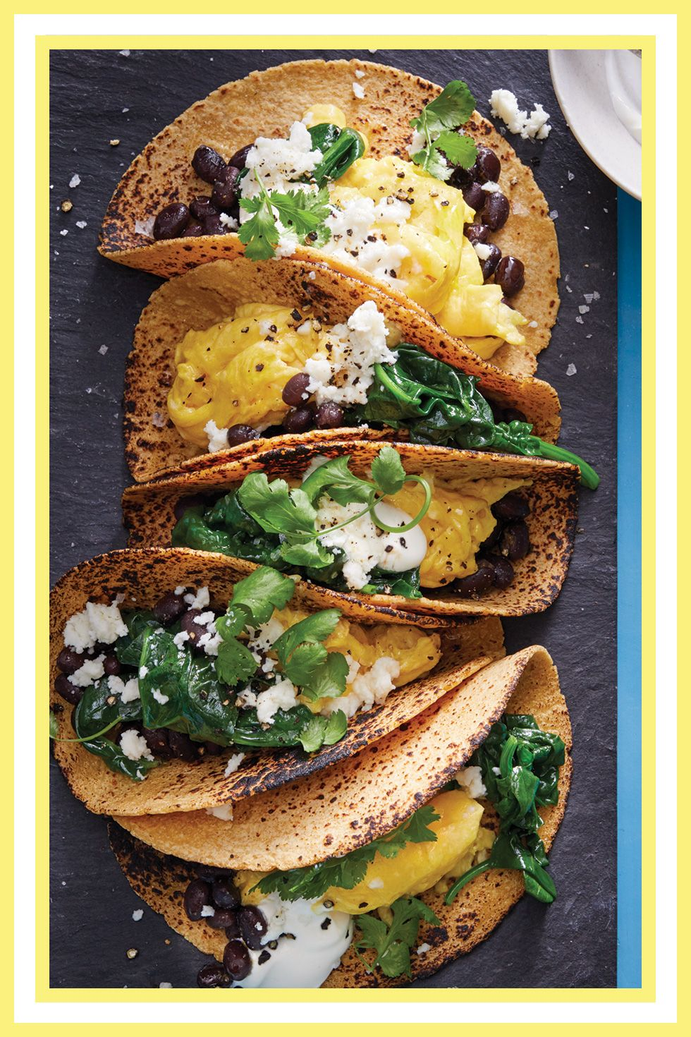 scrambled egg tacos Woman's Day magazine