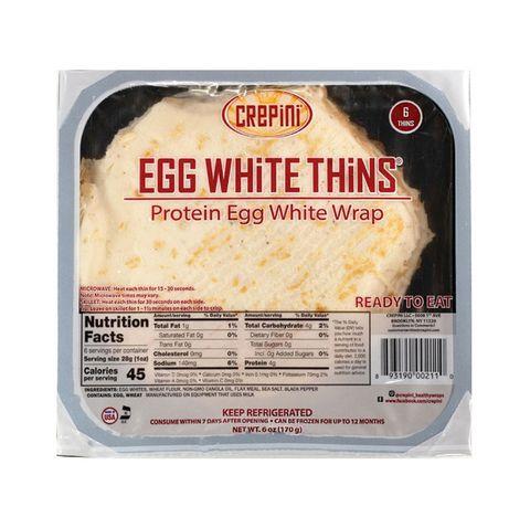 Low carb Crepini egg white wraps