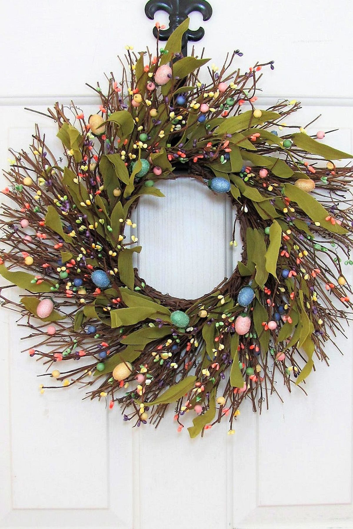 35 Spring Wreaths Easter & Spring Door Decorations Ideas