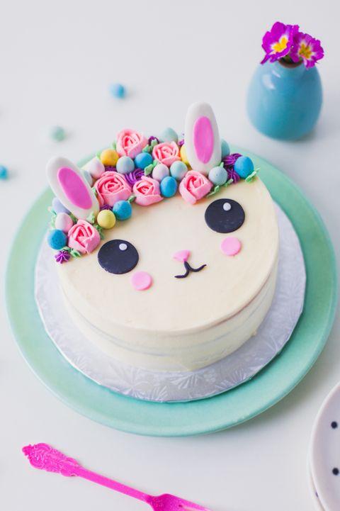 Flower Crown Cake - Easter Bunny Cake