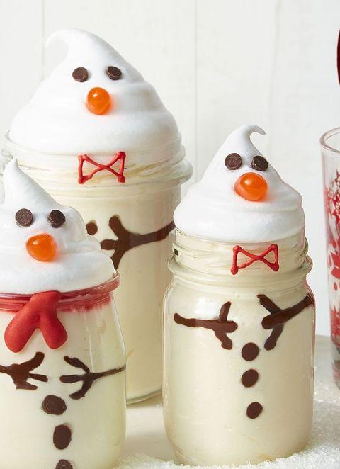 eggnog mousse snowmen recipe