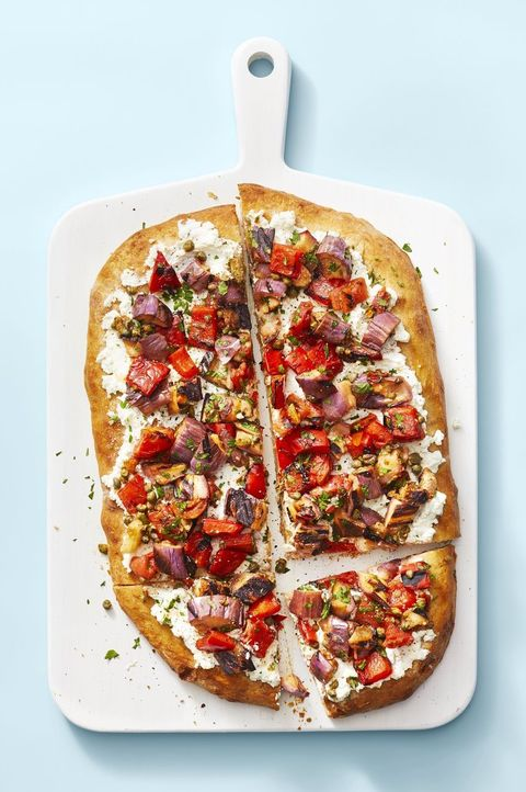 eggplant recipes - caponata flatbread