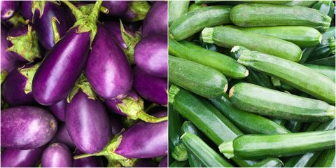 eggplants and zucchini