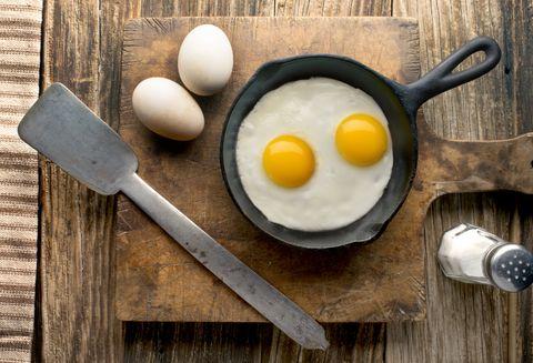eggs on barnwood