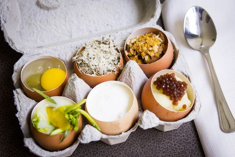 Il menù del miglior ristorante a Roma Trastevere è uovo centrico